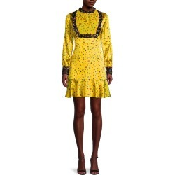 Cynthia Rowley Women's Printed Silk-Blend Prairie Dress - Yellow - Size 4 found on MODAPINS from Saks Fifth Avenue OFF 5TH for USD $84.99