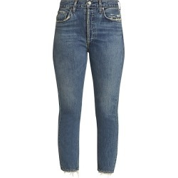 Agolde Women's Ripley Mid-Rise Straight-Leg Ankle Jeans - Frequency - Size 27 (4) found on MODAPINS from Saks Fifth Avenue for USD $178.00