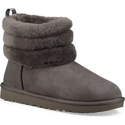 UGG Women's Mini Fluff Quilted Shearling-Lined Suede Boots - Grey - Size 5 found on Bargain Bro India from Saks Fifth Avenue for $170.00