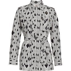 Figue Women's Bohemian Rhapsody Safari Twill Printed Jacket - Amazon Geo Black - Size Large found on MODAPINS from Saks Fifth Avenue for USD $178.50