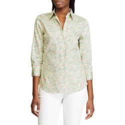 Straight-Fit Floral-Print Cotton Shirt found on GamingScroll.com from The Bay for $18.96