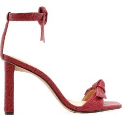 Alexandre Birman Women's Clarita Bow Snakeskin-Embossed Leather Sandals - Garnet - Size 9 found on MODAPINS from Saks Fifth Avenue for USD $595.00
