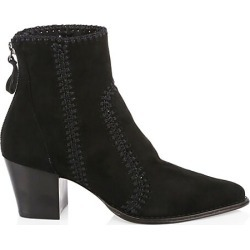 Alexandre Birman Women's Benta Embroidered Suede Ankle Boots - Black - Size 41 (11) found on MODAPINS from Saks Fifth Avenue for USD $850.00