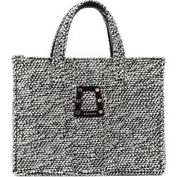 Kooreloo Women's Book Woven Tweed Tote - Black found on MODAPINS from Saks Fifth Avenue for USD $495.00