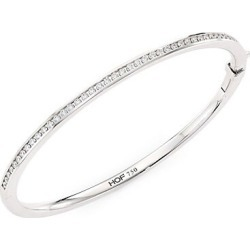 Hearts On Fire Women's HOF Classic 18K White Gold & Diamond Channel Set Bangle - White Gold found on Bargain Bro India from Saks Fifth Avenue for $5200.00