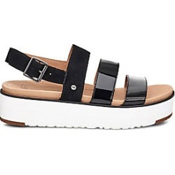 Ugg Women's Braelynn Suede & Leather Flatform Sandals - Black - Size 6.5 found on Bargain Bro India from Saks Fifth Avenue for $120.00