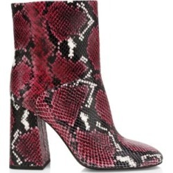 Diya Snakeskin-Embossed Leather Ankle Boots found on MODAPINS from Saks Fifth Avenue AU for USD $256.79