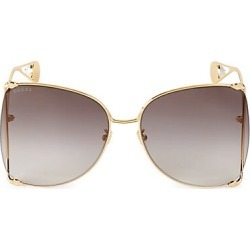Gucci Women's 63MM Round Sunglasses - Gold found on Bargain Bro India from Saks Fifth Avenue for $650.00