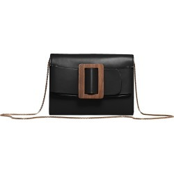 Boyy Women's Buckle Leather Wallet-On-Chain - Black found on MODAPINS from Saks Fifth Avenue for USD $297.50