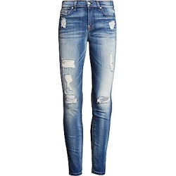 7 For All Mankind Women's Ankle Skinny Distressed Jeans - Authentic Light - Size 31 (10) found on MODAPINS from LinkShare USA for USD $225.00