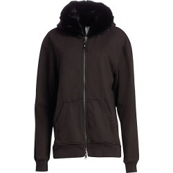 Alchemist Women's Perfect Rabbit Fur Trimmed Hoodie - Black - Size XS found on MODAPINS from Saks Fifth Avenue for USD $1140.00