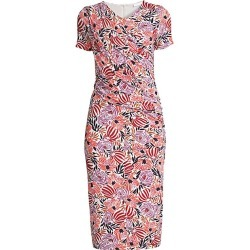 BOSS Women's Erykah Floral Jersey Ruched Dress - Pink Multi - Size Large found on MODAPINS from Saks Fifth Avenue for USD $139.90