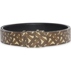 TB Burberry Monogram E-Canvas & Leather Belt found on Bargain Bro Philippines from Saks Fifth Avenue AU for $424.33