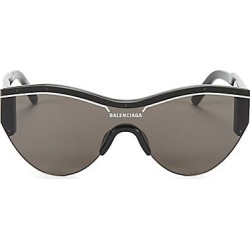 Balenciaga Men's 99MM Rounded Shield Sunglasses - Black found on MODAPINS from Saks Fifth Avenue for USD $450.00