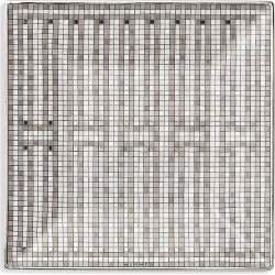La Table Hermes Mosaïque Au 24 Platinum Square Plate found on Bargain Bro India from Saks Fifth Avenue for $150.00