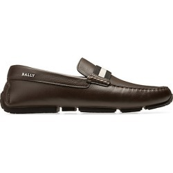 Bally Men's Pearce Pebbled Leather Driving Loafers - Safari - Size 14 D found on MODAPINS from Saks Fifth Avenue for USD $440.00