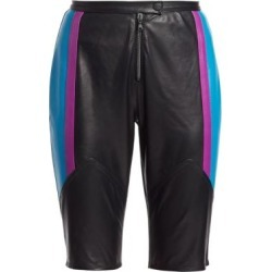 Colorblock Leather Bike Shorts found on Bargain Bro Philippines from Saks Fifth Avenue AU for $392.39