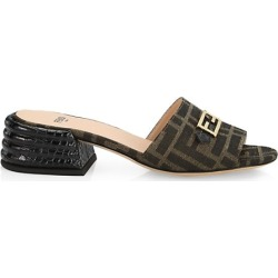 FF Fabric & Croc-Embossed Leather Mules found on Bargain Bro from Saks Fifth Avenue Canada for USD $564.58