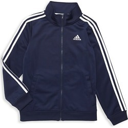 Adidas Boy's Iconic Tricot Jacket - Navy - Size Large (14-16) found on Bargain Bro India from Saks Fifth Avenue for $45.00