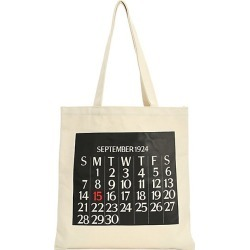 Saks Fifth Avenue Women's Calendar Canvas Tote Bag - White found on Bargain Bro India from Saks Fifth Avenue for $18.00