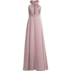 Aidan Mattox Women's Draped Halter-Neck Gown - Antique - Size 10 found on MODAPINS from Saks Fifth Avenue for USD $350.00