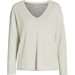 Majestic Filatures Men's Double Face V-Neck Sweater - Ecru Grischine - Size XS found on MODAPINS from Saks Fifth Avenue for USD $118.80