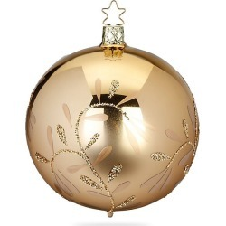 Inge's Christmas Decor Vintage Lightness Glass Ball Ornament - Gold found on Bargain Bro India from Saks Fifth Avenue for $16.00