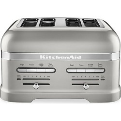 KitchenAid Pro Line 4-Slice Automatic Toaster with Dual Independent Controls - Sugar Pearl Silver