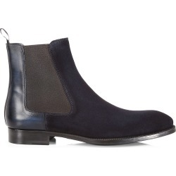 Saks Fifth Avenue Men's COLLECTION Suede Chelsea Boots - Navy - Size 7.5 found on Bargain Bro from Saks Fifth Avenue for USD $454.48