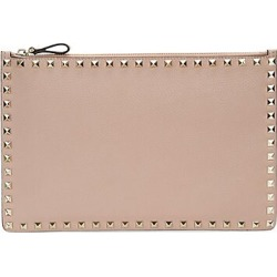Valentino Women's Valentino Garavani Large Rockstud Leather Pouch - Poudre found on Bargain Bro Philippines from Saks Fifth Avenue for $695.00