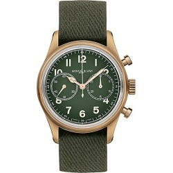 Montblanc Men's 1858 Limited Edition Stainless Steel & Leather Strap Automatic Chronograph Watch - Green