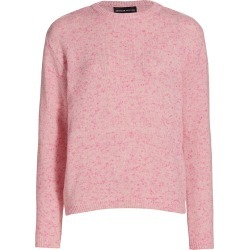 Brandon Maxwell Women's Speckled Stretch Cashmere Crewneck Sweater - Pink - Size Large found on MODAPINS from Saks Fifth Avenue for USD $355.50