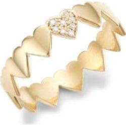 Itty Bitty Symbols 14K Yellow Gold & Diamond Heart Ring