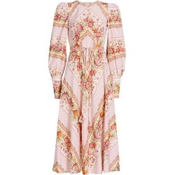 Angelica Floral Puff-Sleeve Midi Dress found on Bargain Bro from Saks Fifth Avenue Canada for USD $961.68