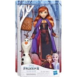 Poupée Anna avec figurine Olaf à construire Frozen 2 de Disney