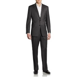 Saks Fifth Avenue Made in Italy Men's Classic-Fit Wool Suit - Charcoal - Size 48 R found on Bargain Bro Philippines from Saks Fifth Avenue OFF 5TH for $264.97