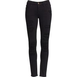 Frame Women's Le Color Mid-Rise Skinny Distressed Jeans - Film Noir - Size 31 (10) found on Bargain Bro Philippines from Saks Fifth Avenue for $199.00