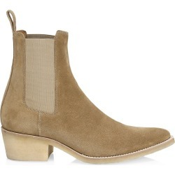 Amiri Men's Crepe Suede Point-Toe Chelsea Boots - Fango - Size 42 (9) found on MODAPINS from Saks Fifth Avenue for USD $990.00
