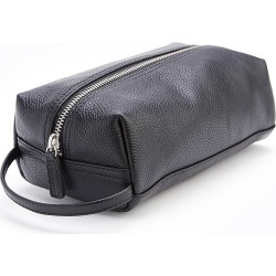 ROYCE New York Women's Compact Leather Toiletry Bag - Black found on MODAPINS from Saks Fifth Avenue for USD $135.00