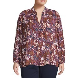 Plus Floral-Print Top found on Bargain Bro India from Saks Fifth Avenue OFF 5TH for $34.99