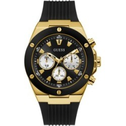 Goldtone Stainless Steel & Silicone-Strap Watch