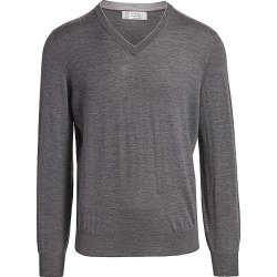Brunello Cucinelli Men's V-Neck Wool & Cashmere Sweater - Lead - Size 50 (40) found on MODAPINS from Saks Fifth Avenue for USD $745.00