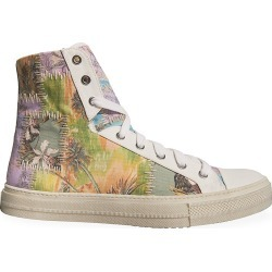 Amiri Men's Hawaiian Reconstructed High-Top Sneakers - Purple Green - Size 46 (13) found on MODAPINS from Saks Fifth Avenue for USD $695.00