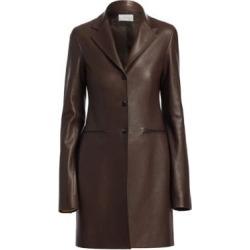Nedifa Leather Coat