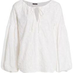 Wandering Sangallo Floral Puff-Sleeve Blouse found on Bargain Bro India from Saks Fifth Avenue AU for $186.49