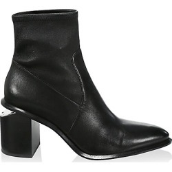 Alexander Wang Women's Anna Rhodium & Stretch-Leather Sock Boots - Black - Size 40.5 (10.5) found on MODAPINS from Saks Fifth Avenue for USD $695.00