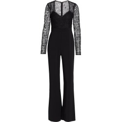 ML Monique Lhuillier Women's Lace Flare-Leg Jumpsuit - Jet - Size 8 found on MODAPINS from Saks Fifth Avenue for USD $445.00