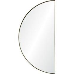 Miroir mural en forme de demi-lune avec cadre, collection Modern Glamour
