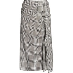 Agnona Women's Plaid Ruffle Detail Skirt - Grey - Size 40 (4) found on MODAPINS from Saks Fifth Avenue for USD $1290.00