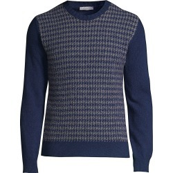 Boglioli Men's Houndstooth Cashmere Blend Sweater - Blue - Size Large found on MODAPINS from Saks Fifth Avenue for USD $193.50